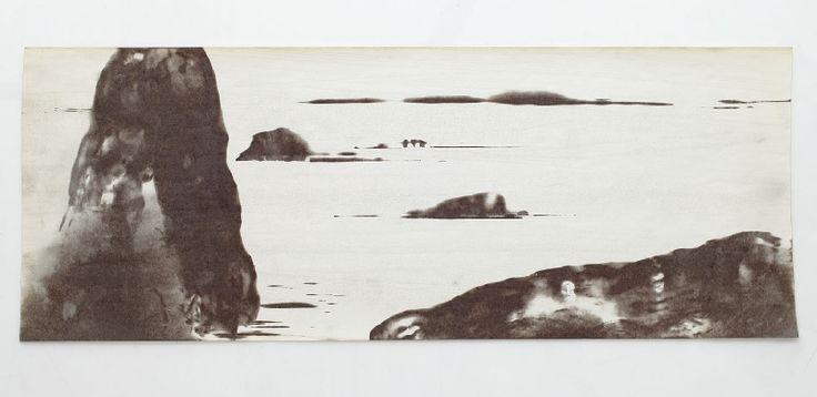 Tři stromy | Krajina z bezčasí | termokresba - digitální tisk na plátně | 2004 | Obr.: 2/12