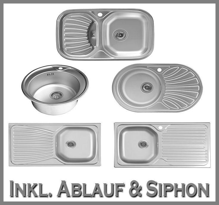 Edelstahlspüle Einbauspüle Edelstahl Spülbecken Spüle Küchenspüle Waschbecken