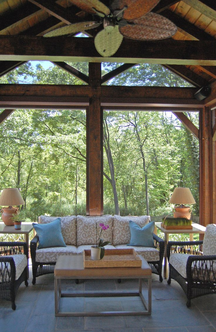Bungalow the kitchen outdoor living space stone textile at home - Gardner Fox Associates Sunroom Addition Villanova Pa