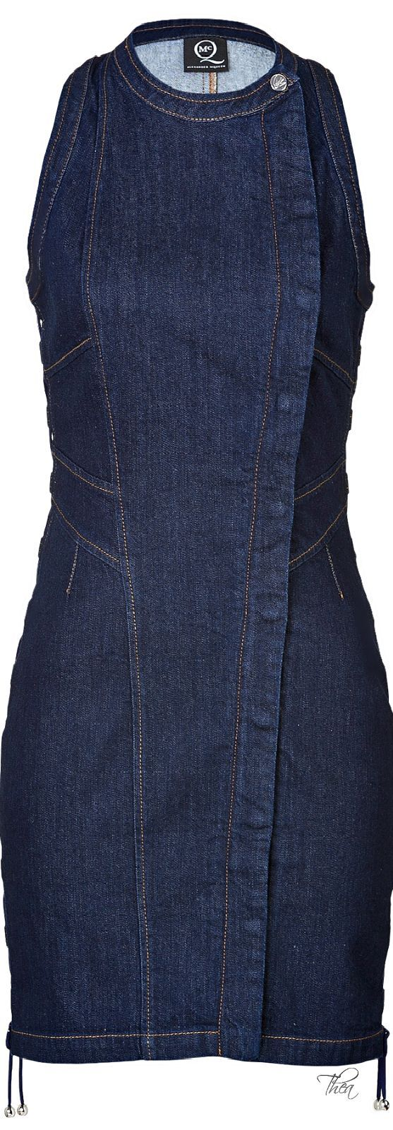 McQ by Alexander McQueen Blue Bodycon Denim Dress | The House of Beccaria~:              https://br.pinterest.com/source/pinterest.com/