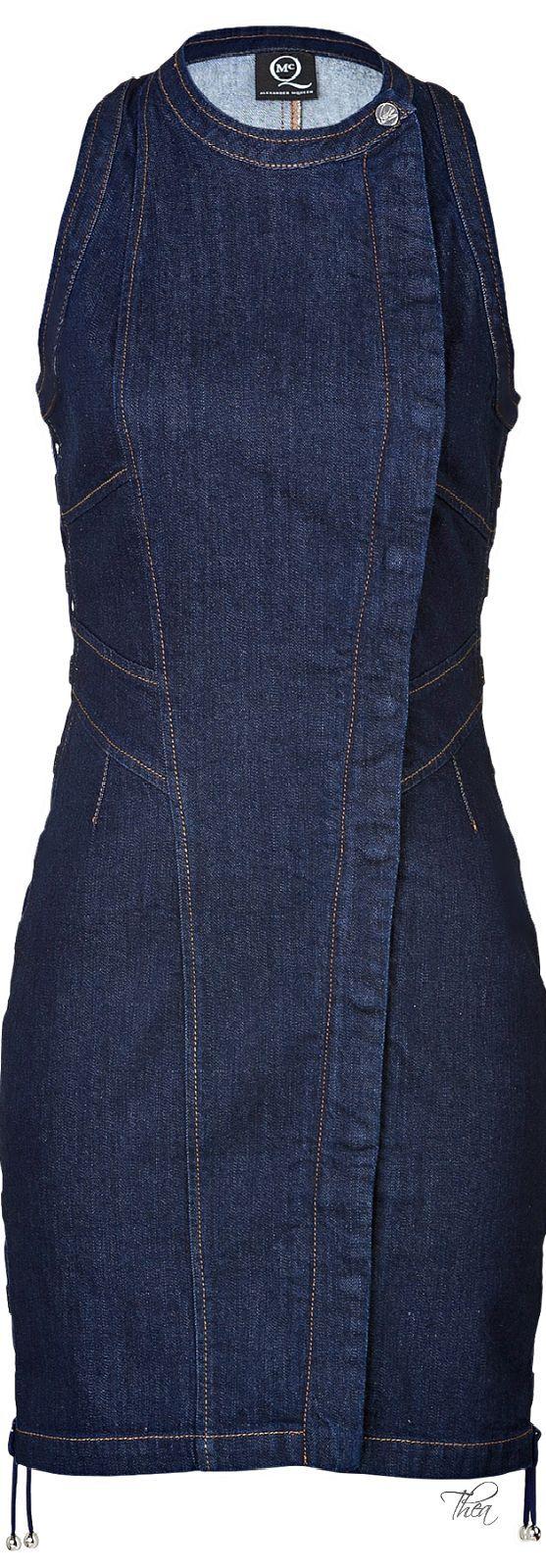 McQ by Alexander McQueen Blue Bodycon Denim Dress | The House of Beccaria~: https://br.pinterest.com/source/pinterest.com/