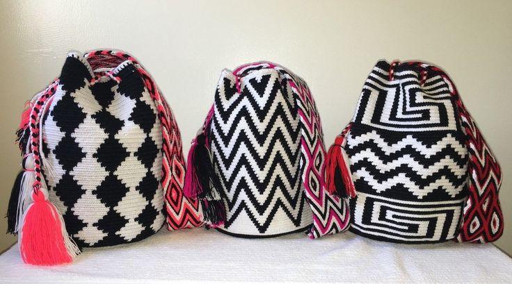 Free Shipping Authentic Mochila Wayuu Large Handmade Crossbody Shoulder Bag…