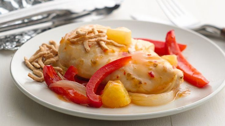 Opening up a grill packet is a sweet surprise!  Chicken breasts go sweet and sour in a hurry.