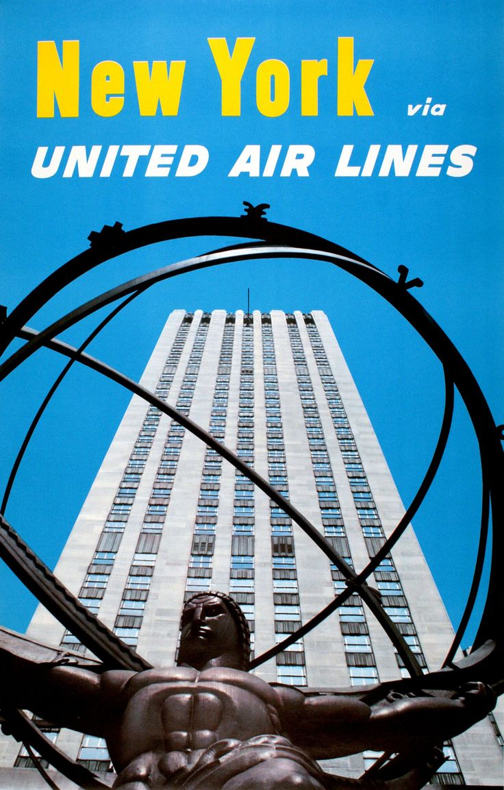 New York via United Airlines by Anonymous United air