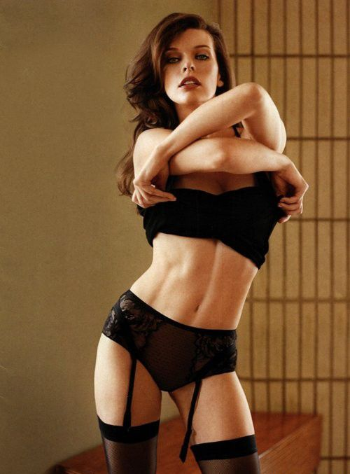 Milla Jovovich isn't the one who keeps her body under cover. Moreover, she demonstrates it quite often and is proud of this. Not that I approve it but she has a gorgeous figure and hiding it from people would be nearly a crime. Posing for Maxim Australia the actress demonstrates all she has and looks fantastic doing that.
