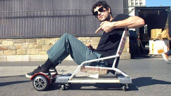 """How to make a DIY hoverboard chair Read more Technology News Here --> http://digitaltechnologynews.com  This """"hoverboard chair"""" is recommended to those on a budget but in search of danger. Read more...  More about Mashable Video Diy Jon Lynn Rideable and Hoverboard Chair Source/Original Post -> http://mashable.com/2016/10/12/diy-hoverboard-chair/ #tech #news #trending #leak FOLLOW ON FACEBOOK! https://www.facebook.com/TechNewsTrends/"""