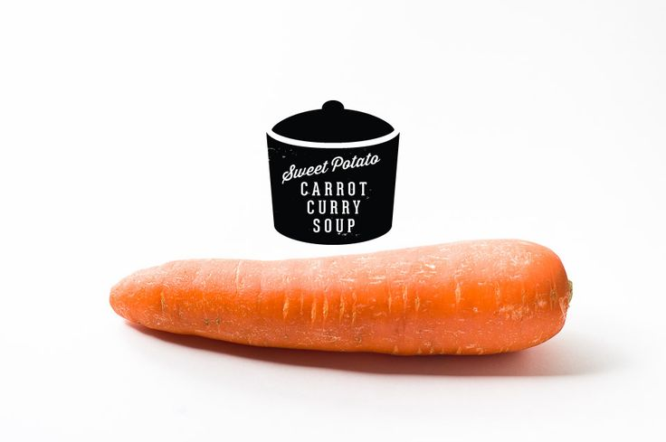 Six ingredient sweet potato, carrot curry soup
