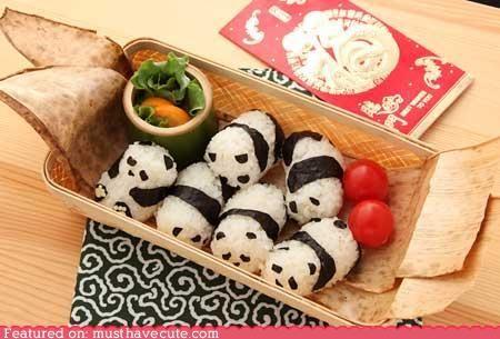 Panda bear sushi rice.