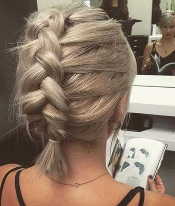 Magnificent 1000 Ideas About Braid Short Hair On Pinterest Highlighted Hair Hairstyles For Women Draintrainus