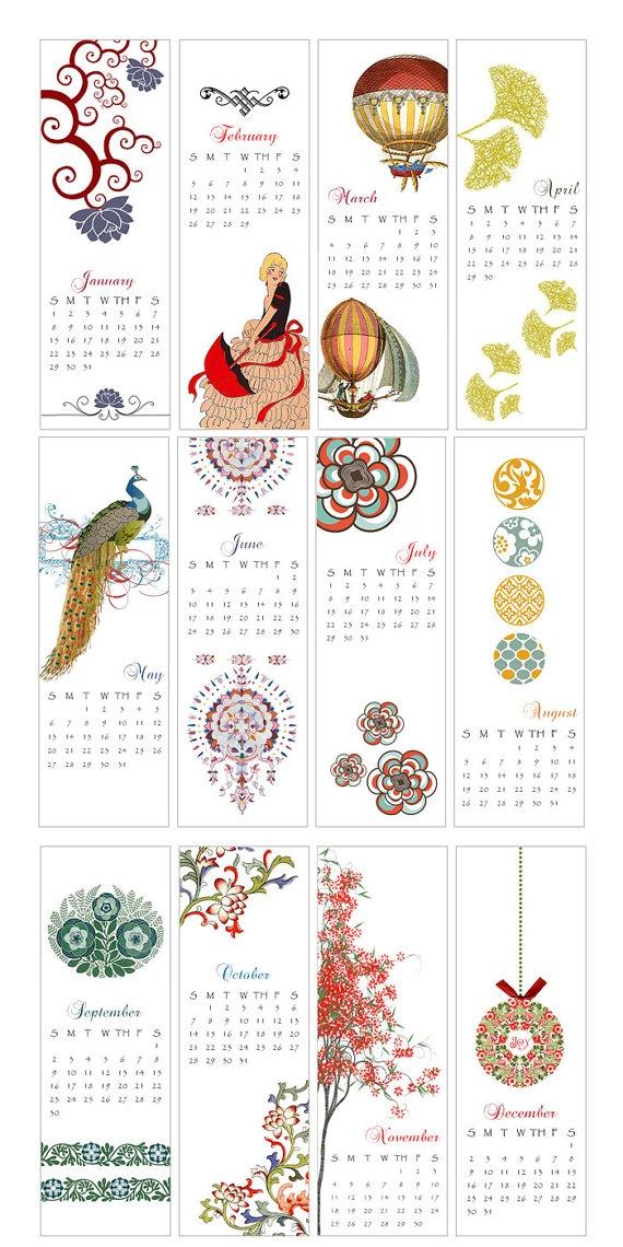 beautiful calendar from Pikake Press on etsy.