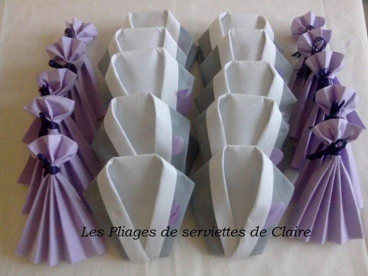 Pliage serviette en robe de bal