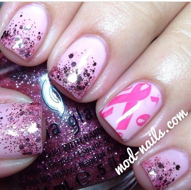 138 Best Breast Cancer HOPE Nails Images On Pinterest