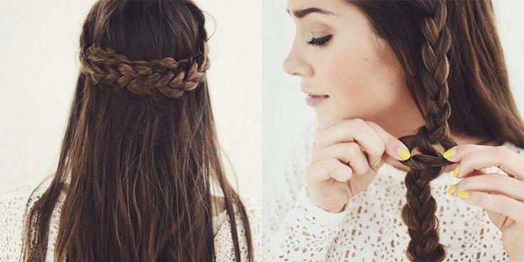 Her viser vi deg hvordan du kan flette håret - steg for steg.