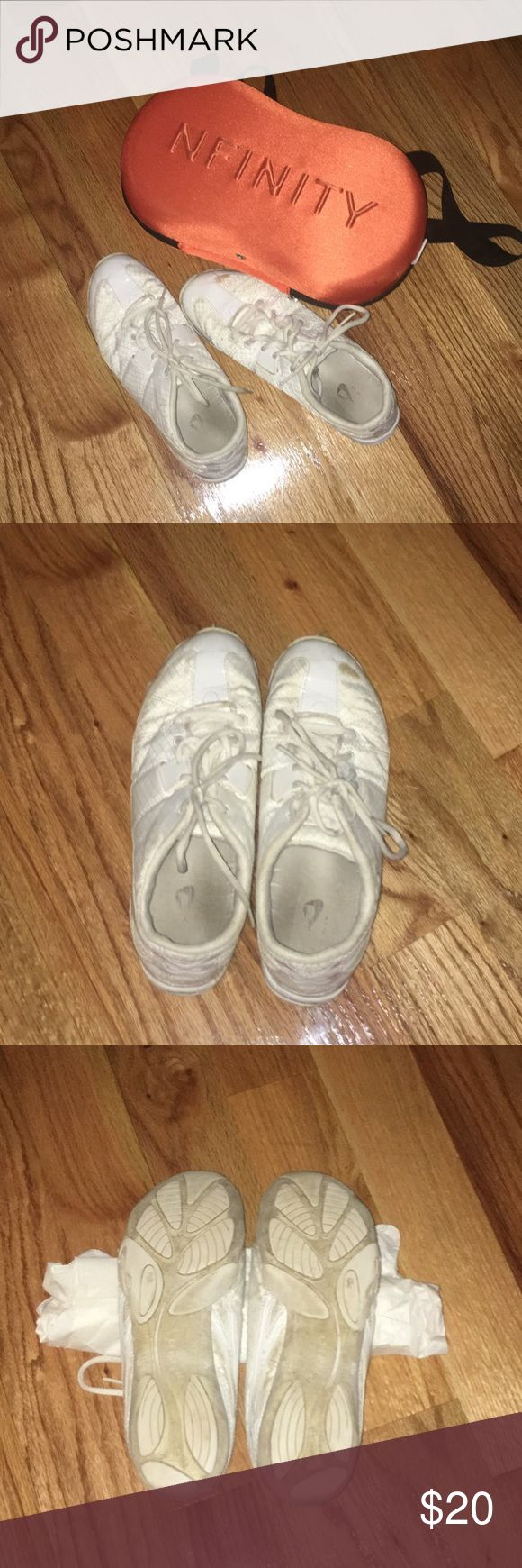 Nfinity cheer shoes Nfinity cheer shoes -Great condition. Used for one season. -size 9 1/2 --------------------------------------- -will negotiate  -If you have any questions just ask me NFINITY Shoes Athletic Shoes
