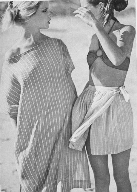 Relaxed elegance seen in Vogue, April 1978.