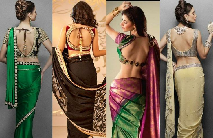 Love the saree blouse back designs