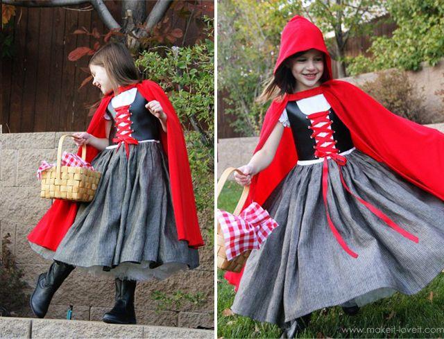 Костюм Красной шапочки для девочки - как сшить