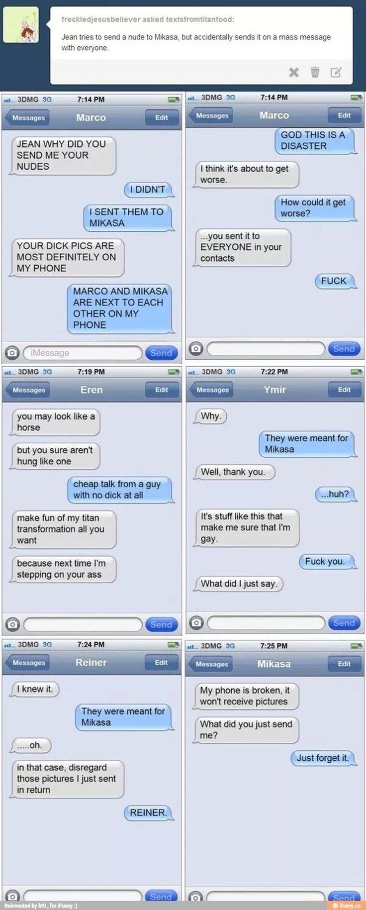 attack, titan, text, messages