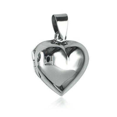 Locket - PUFF HEART - Sterling Silver