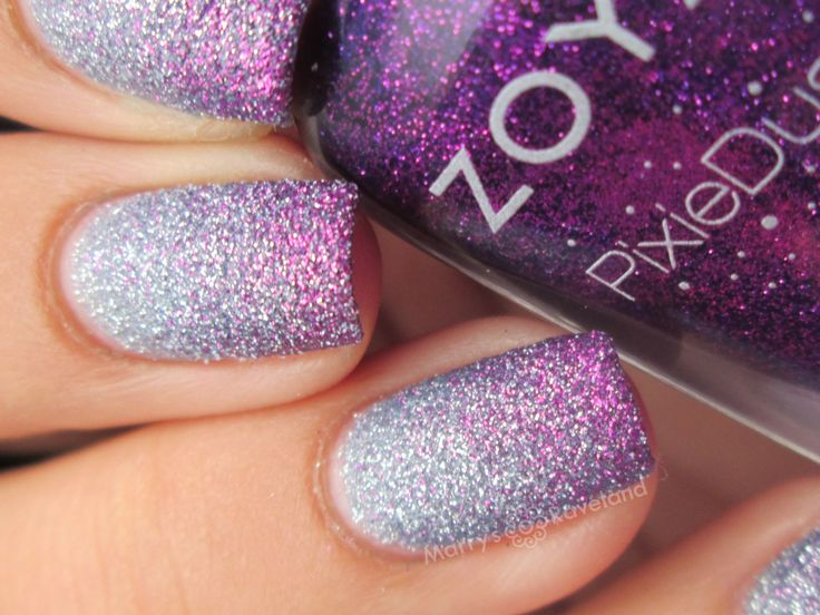 Zoya Pixie dust gradient with Nyx and Carter