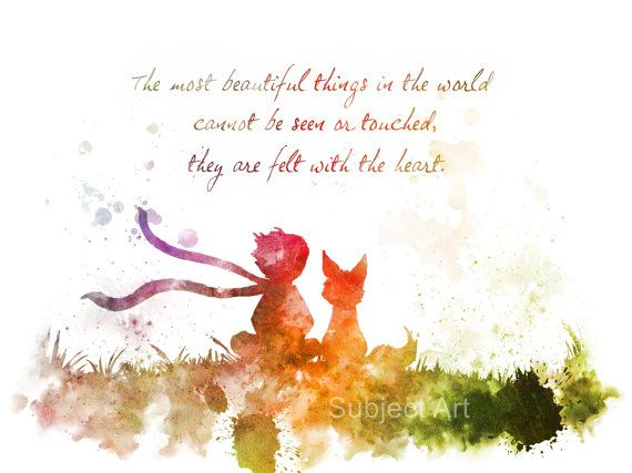 The Little Prince inspired Quote 2nd Edition ART PRINT illustration, Le Petit Prince, Wall Art, Home Decor