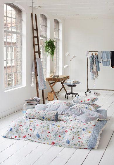 PiP Studio Set alb de pat cu imprimeu floral Hummingbirds
