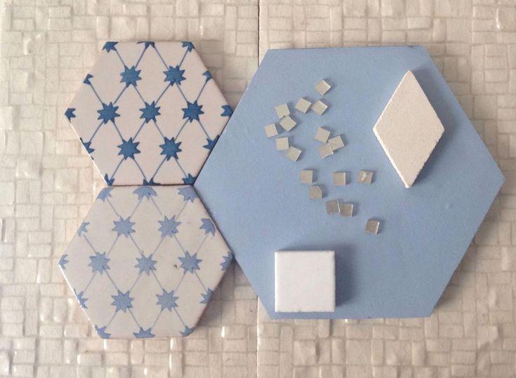 Decorare in bianco e blu