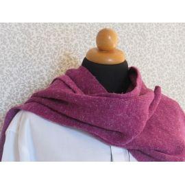 Knitted Scarf - Bordeaux Melange