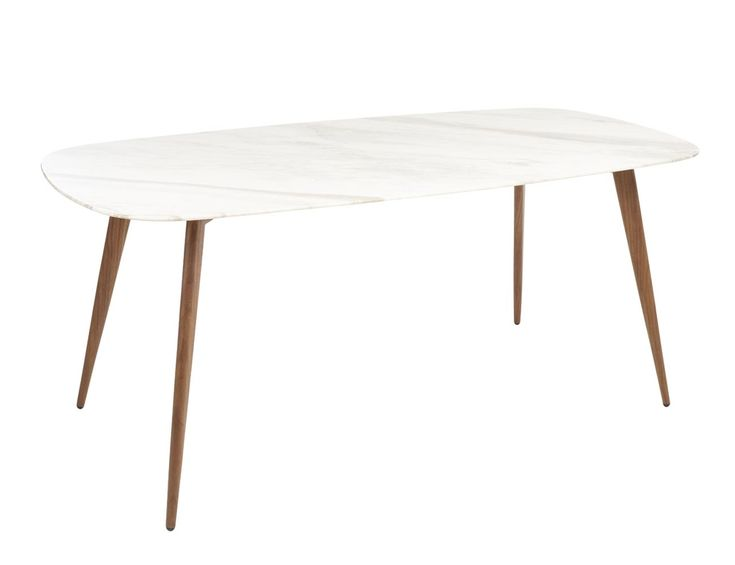 lucerne white marble dining table rectangle – dwel…