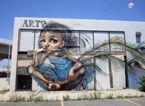 Los Angeles Street Art. Although this is not Banksy [or Rinaldo]. Meet Rinaldo here: http://maryemartintrilogies.com
