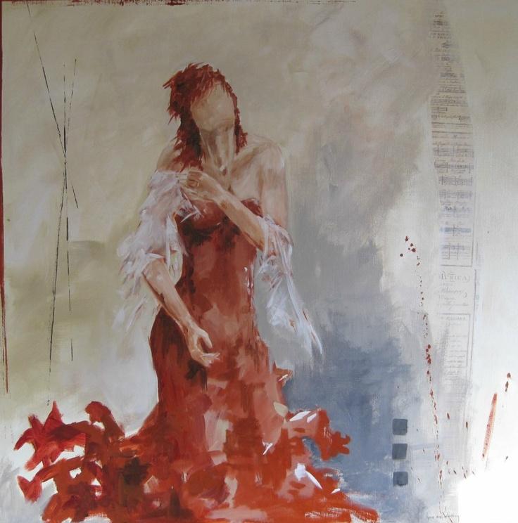 11 best images about schilderijen diverse formaten on pinterest amsterdam kunst and lady in red - Kamer in rood en grijs ...