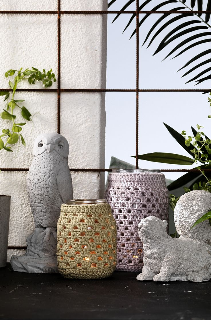 Cast and crochet for the patio www.pandurohobby.com Outdoor living by Panduro #decoration #DIY #urban #farming