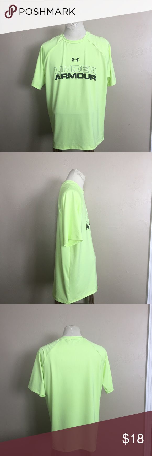 Under armour mint Green tops/ tee- shirt Large Brand new just no tags. This is never worn. We can assure you that this is brand new. We promise to ship as soon as we can. We offer 10% off discount for bundle shipping. We store our products in a smoke free home. Under Armour Shirts Tees - Short Sleeve