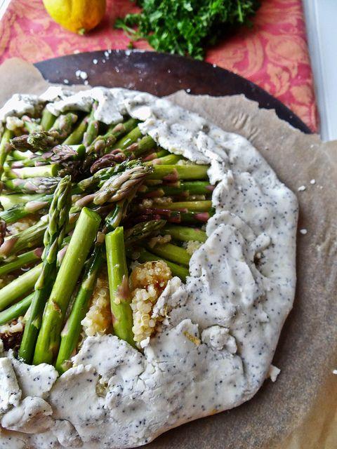 Rustic Asparagus Quinoa Tart | Recipes | Pinterest