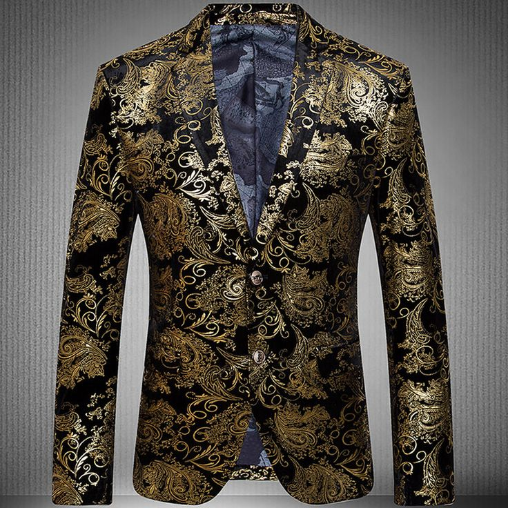 Mens Blazer 2016 New arrival Gold Suit Jacket Men Paisley Blazer Velvet Wedding Dress Stage Two Button Men Suit-in Blazers from Men's Clothing & Accessories on Aliexpress.com | Alibaba Group