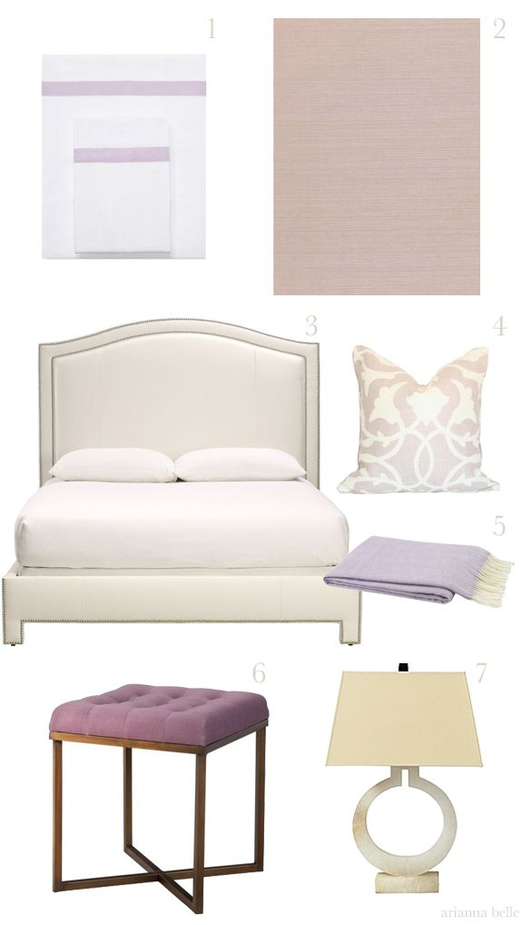 Chic Combinations: Lavender + Cream (Get the Look) //  by Arianna Belle for La Dolce Vita Blog. For product sources and inspiration: http://www.paloma81.blogspot.com/2014/02/chic-combinations-lavender-cream.html