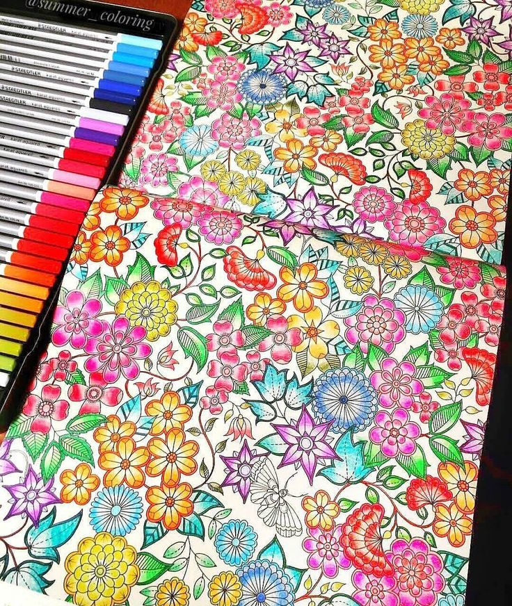 Art by @summer_coloring  boa noite colorideiras do meu jardim encantado  Eu simplesmente AMOOOOOO esses coloridos super coloridos rsrs ❤❤☄❤❤ #colorindomeujardimencantado #LoveIn30Languages  #mycreativeescape #mandala  #johannabasford #secretgarden  #FlorestaEncantada #enchantedforest #adultcoloringbook #jardimdosbroder  #fabercastell #maped #staedtler  #mapedcolorpeps #fabercastellbrasil #polychromos #livrocoloriramo #parkyoung...