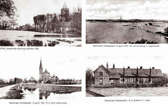 Overstroming van de noord Kethelpolder 1903