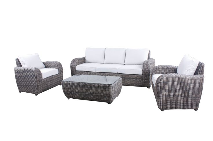 UPSTAIRS VERANDAH: Dream Lounge Setting with single chairs $2499. outlet on Bayside Brisbane. Sofa against RH wall. Chairs facing
