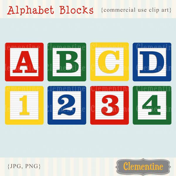 Alphabet blocks clip art images, baby blocks clip art, alphabet clip art, royalty free images- Instant Download by ClementineDigitals on Etsy https://www.etsy.com/listing/65278348/alphabet-blocks-clip-art-images-baby
