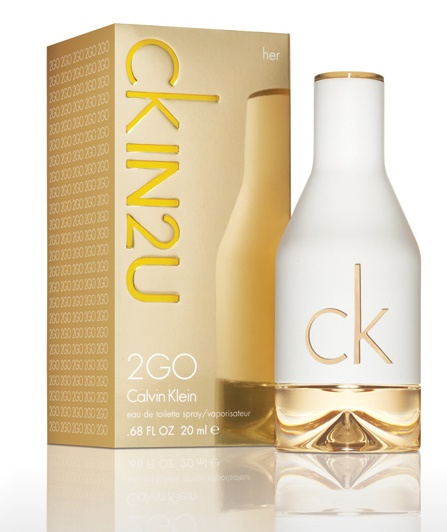 CK In2U her. White tea, pomegranate, vanilla.