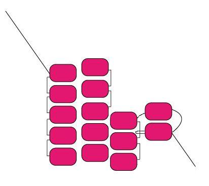 Ressources Comment faire un tissage en brick stitch avec augmentation et réduction