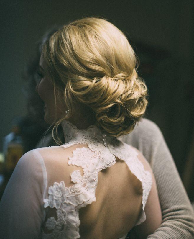 Wedding hair, wedding updo, bridal updo, bridal hair, classic updo. From Vivian Makeup Artist.