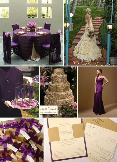 сватба в лилаво и златно