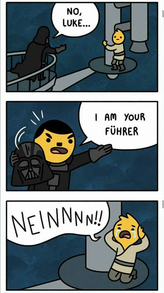 Makes the EPIC RAP BATTLE OF HISTORY! of Darth Vader vs Hitler take a whole new meaning lol