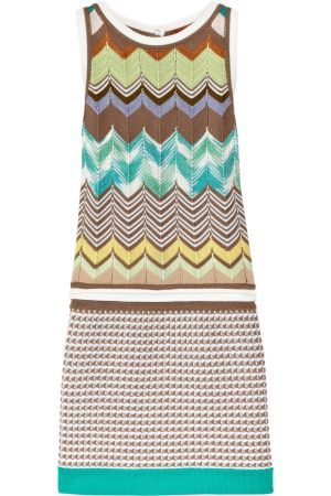 missoni labirinto crochet knit dress