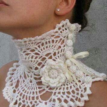 .beautiful neck collar crochet