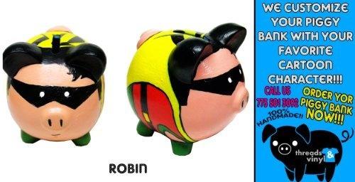 Robin Piggy Bank Dc Comics Dark Night Ceramic Coin Room Decoration NEW Hero by Batman Robin Comics Dark Night Piggy Bank, http://www.amazon.com/dp/B00BWHMENQ/ref=cm_sw_r_pi_dp_hlSMrb02C00RY
