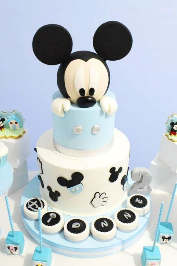 Mickey Mouse Birthday Cake Baby Mickey Mouse Cake Mickey Mouse Birthday Cake Mickey Mouse Birthday Party