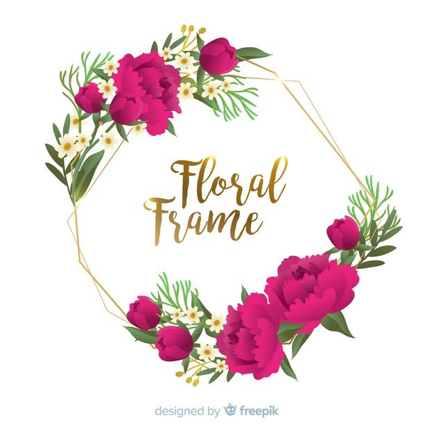 Hand Drawn Flower Frame Background Free Free Vector Freepik Freevector Background Flower Frame Flower Drawing Hand Drawn Flowers